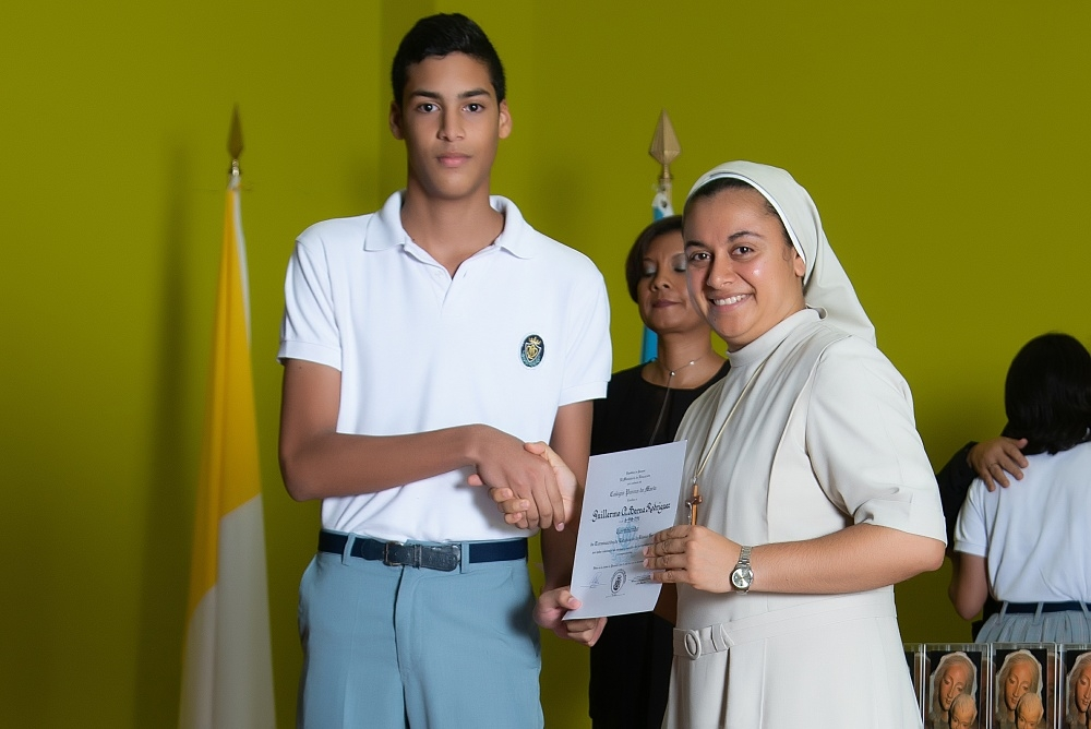 Cobertura: Graduación de noveno grado, Colegio Pureza de María, 2018.,